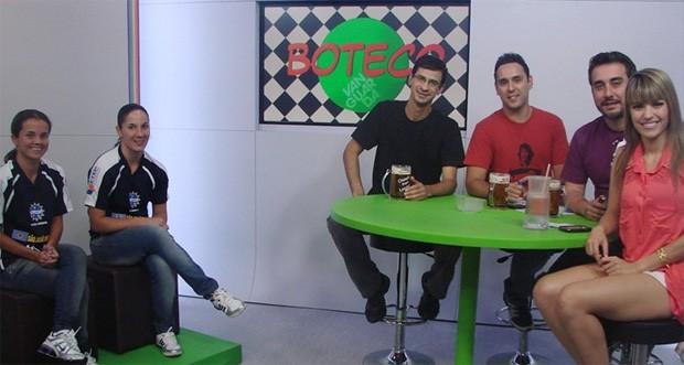 Nessa semana: as jogadoras e o time do Boteco Vanguarda (Foto: Filipe Rodrigues/Globoesporte.com)