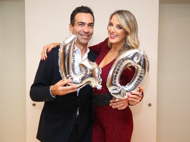 Ticiane Pinheiro comemora aniversário com o namorado, César Tralli, em São Paulo (Foto: Manuela Scarpa/ Brazil News)