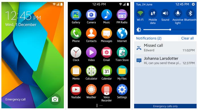Tizen ganha várias cores, como no Android 5.0 (Foto: Reprodução/Tizen Indonesia)