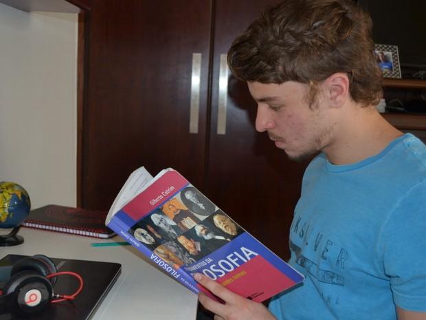 Vitor Foltran Orsini, de Piracicaba, aprovado em direito na USP (Foto: Claudia Assencio/G1)