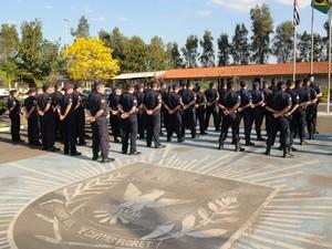 A Guarda Municipal de Campinas, na área do Taquaral (Foto: Carlos Bassan / Prefeitura de Campinas)