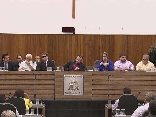 Audiência pública para melhorias no transporte coletivo foi realizado em Itapetininga (Foto: Reprodução/TV TEM)