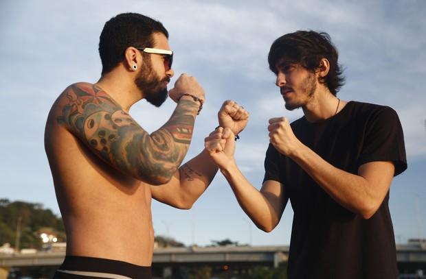 Guto Oliveira e Mike  (Foto: Marcos Serra Lima / EGO)