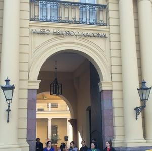 Museu Histórico Nacional do Chile, em Santiago, conserva sala para contar a Guerra do Pacífico (Foto: Marcelo Hazan)