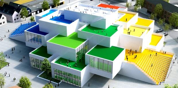 Casa da Lego em tamanho real está sendo construída na Dinamarca (Foto: Divulgação)