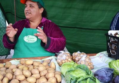 Gisele Dias, produtora de orgânicos da região de Cotia  (Foto: Marina Salles/ Ed. Globo)