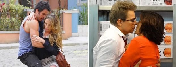 Vânia e Felipe encontram novos pares (Foto: Guerra dos Sexos / TV Globo)