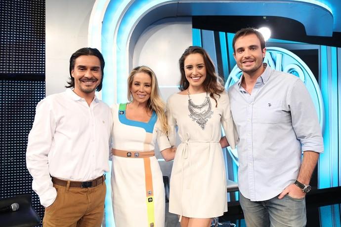 André Gonçalves, Dani Winits, Amanda Richter e Max Fercondini (Foto: Carol Caminha/Gshow)