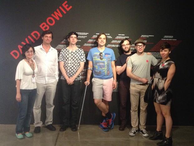 Arcade Fire visita exposição de David Bowie em São Paulo (Foto: Divulgação/MIS)