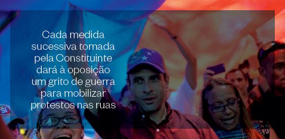 Cada medida sucessiva tomada pela Constituinte dará à oposição um grito de guerra para mobilizar protestos nas ruas (Foto: Federico Parra/AFP)