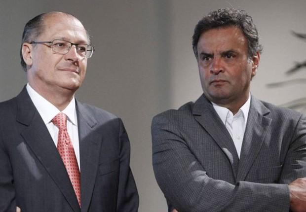 O governador de São Paulo, Geraldo Alckmin, e o líder do PSDB, Aécio Neves (Foto: Marcos Alves/Agência O Globo)