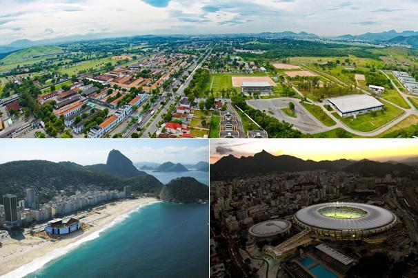 Deodoro, a Praia Copacabana e o Maracanã serão palco dos Jogos Rio 2016; Grupo Globo anuncia patrocínio de mídia (Foto: Divulgação)