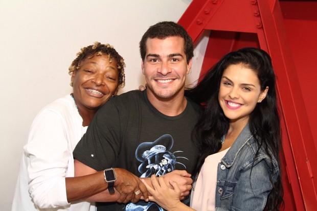 Mart'nália, Thiago Martins e Paloma Bernardi (Foto: Anderson Borde / AgNews)