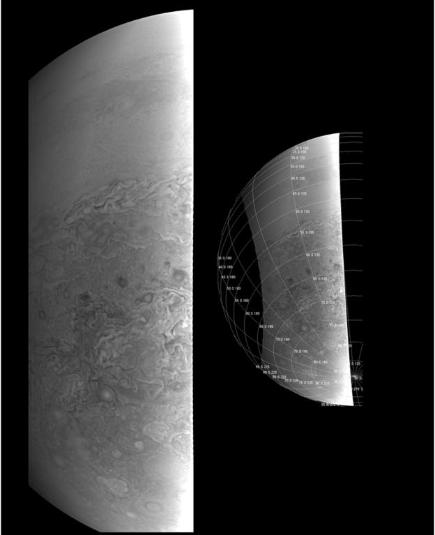 O hemisferio sul de Jupiter a uma distância de 39 mil quilômetros  (Foto: NASA/JPL-CALTECH/SWRI/MSSS)