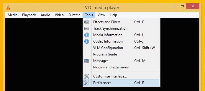 Acesse as configurações do VLC (Foto: Reprodução/Helito Bijora)