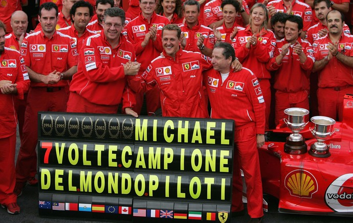 Michael Schumacher Heptacampeão 2004 (Foto: Getty Images)