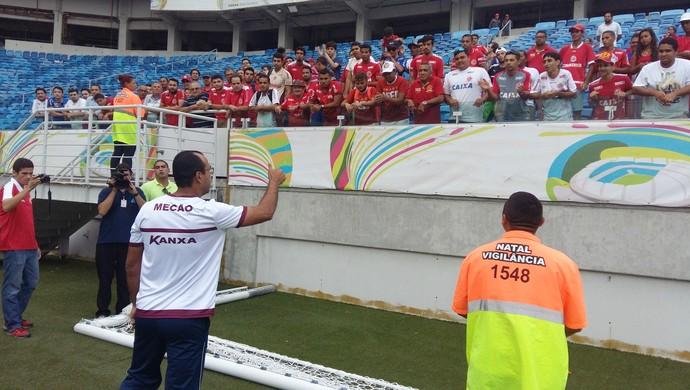 América-RN - reapresentação jogadores Arena das Dunas - Felipe Surian (Foto: Jocaff Souza/GloboEsporte.com)