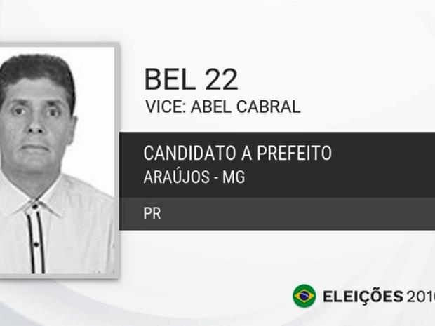 Bel, candidato a prefeito em Araújos (Foto: TSE/Divulgação)