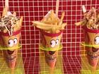 Batata frita em cone oferece sabor e praticidade ao consumidor