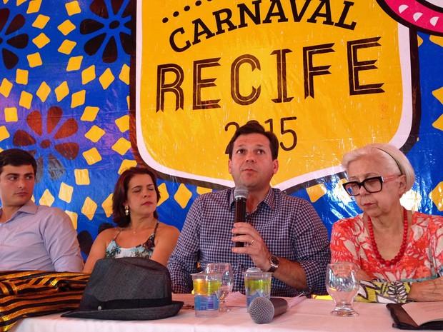 Coletiva PCR carnaval 2015 (Foto: Thais Querioz/G1)