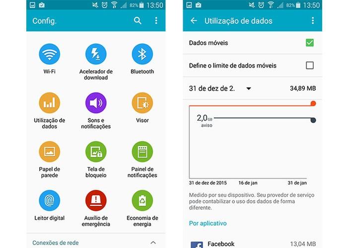 Monitore o gasto do plano de dados pelas configurações do Android (Foto: Reprodução/Barbara Mannara)