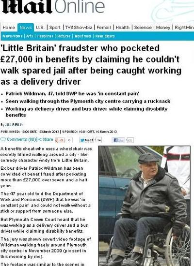 Fraudador fingiu ser que não podia andar para ganhar benefícios do governo (Foto: Reprodução/Internet)