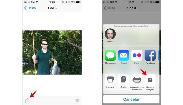 Usuário pode armazenar áudio e vídeo enviados pelo iMessage (Foto: Reprodução/Helito Bijora)