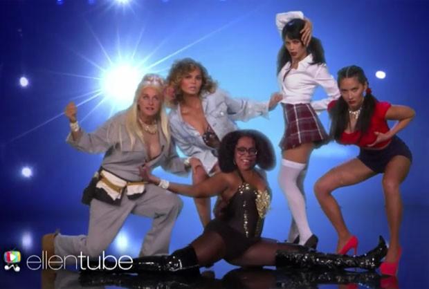 Chrissy Teigen, Ellen DeGeneres, Olivia Munn, Jennna Dewan Tatum e Oprah Winfrey (Foto: Reprodução)