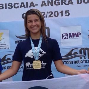 Giovanna Golfetto é campeã Júnior de Maratona Aquática de Angra dos Reis (Foto: Reprodução/Facebook)
