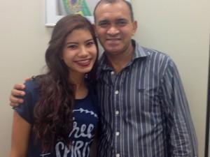Paulo Nogueira diz que dará o apoio necessário para a filha Danielle (Foto: Jéssica Alves/G1)