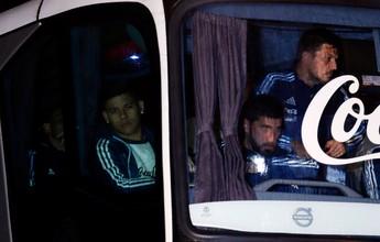 Argentinos mostram apoio a Messi na chegada da seleção a Buenos Aires
