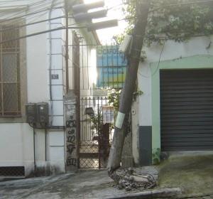 A estrutura fica no bairro de Santa Teresa, na Zona Sul do Rio. (Foto: Carlos Antonio Neves Bezerra/VC no G1)