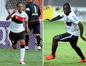 Liedson Zé Roberto Flamengo x Bahia (Foto: Montagem sobre foto da Agência Estado)