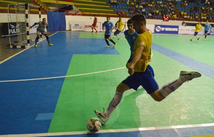Brasil 6x1 Uruguai, Sul-americano de futsal sub-20 (Foto: João Áquila / GloboEsporte.com)