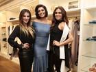 Cleo Pires, Juliana Paes e Giovanna Antonelli se encontram em evento