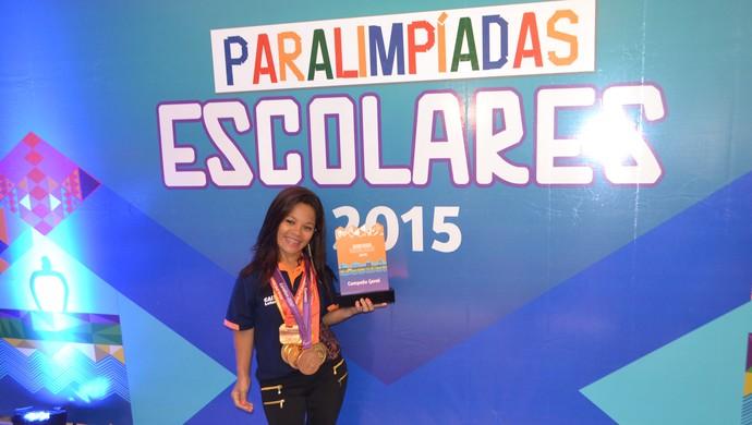 Paralimpíadas Escolares - Joana Neves, paratleta natação RN (Foto: Jocaff Souza/GloboEsporte.com)