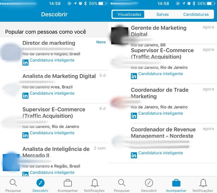 LinkedIn Job Search oferece ainda outras opções de busca e monitoramento (Foto: Reprodução/Felipe Vinha)
