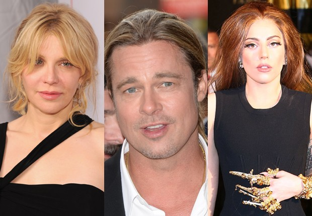 Courtney Love, Brad Pitt e Lady Gaga (Foto: Getty Images)