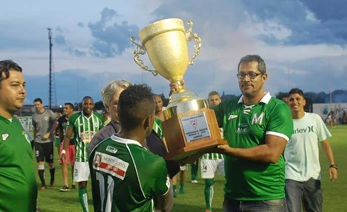 Beto Ribeiro, Mamoré, presidente, Luizinho, atacante, campeão (Foto: Esporte Clube Mamoré)