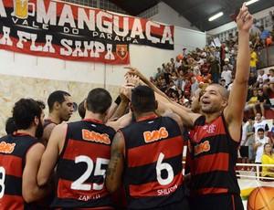 basquete Flamengo comemoração (Foto: João Pires / LNB)