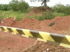 Corpo de Leandro Vicente foi encontrado em área próximo ao Daia, em Anápolis, Goiás (Foto: Reprodução/TV Anhanguera)