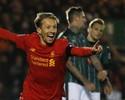 Lucas volta a marcar após 2316 dias, e Liverpool avança na Copa da Inglaterra