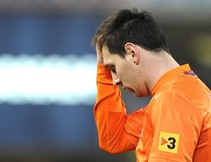 Messi lamenta derrota do Barcelona para o Real Sociedad (Foto: AFP)
