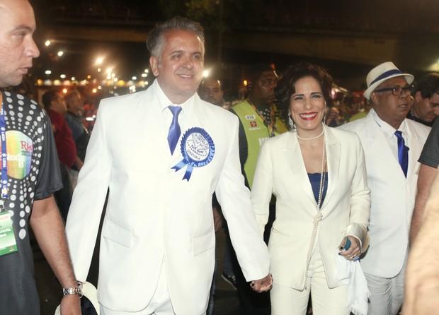 Orlando Morais e Glória Pires na Sapucaí (Foto: Marcos Serra Lima/ EGO)