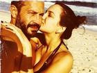 Malvino Salvador curte praia com Kyra Gracie e posta foto romântica