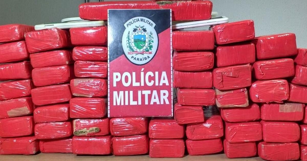Polícia apreende mais de 50kg de maconha em João Pessoa em Paraíba