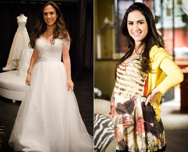 Valdirene grávida e noiva (Foto: Divulgação / TV Globo)