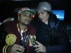 Mulher Moranguinho e Naldo andam de limousine em Nova York