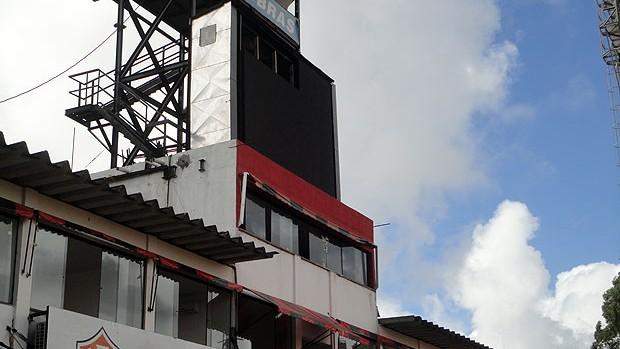 placar eletrônico barradão (Foto: Raphael Carneiro/Globoesporte.com)
