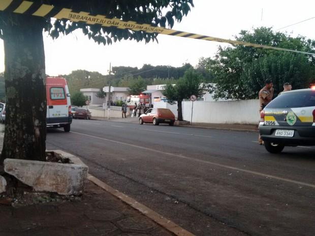 Centro de Quedas do Iguaçu teve intensa movimentação policial (Foto: Arquivo Pessoal)